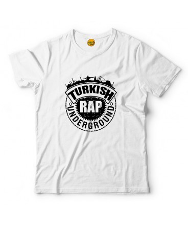 Turkish Rap Logo Beyaz T-Shirt