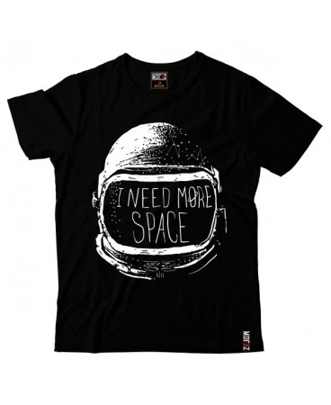 I NEED MORE SPACE T-SHİRT - SİYAH