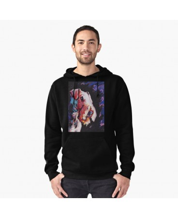 Airedale Terrier Bright Colorful Pop Art Pullover Hoodie
